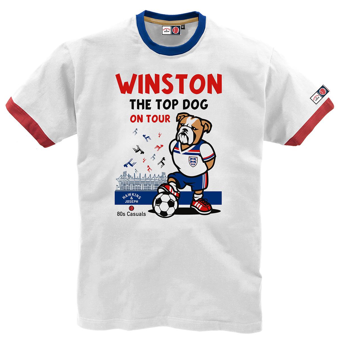 Bulldog Winston Ringer Tee Shirt